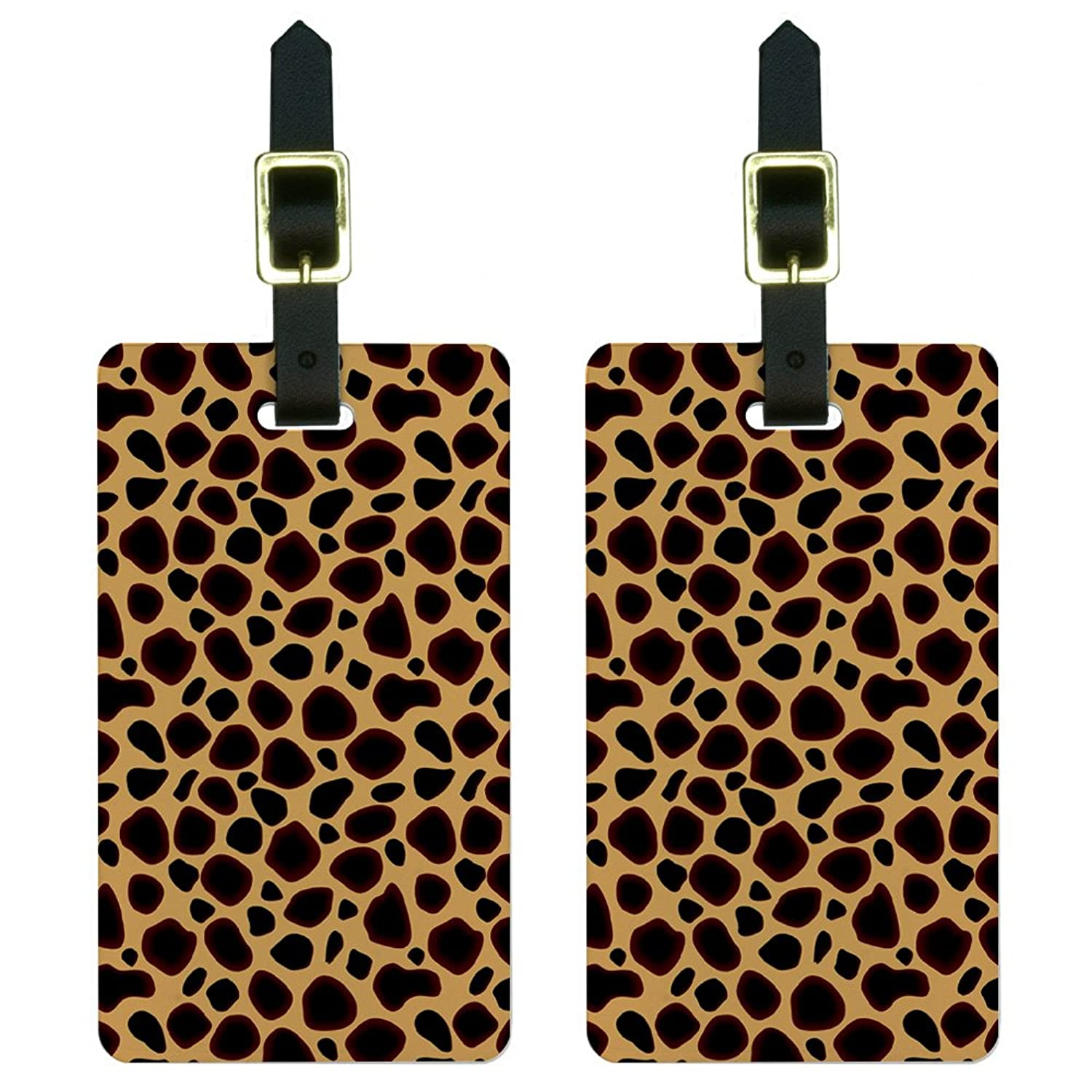 Cheetah Print Luggage Tags Suitcase Carry-On ID Set of 2 the cheetah girls the cheetah girls 2 special edition soundtrack cd dvd