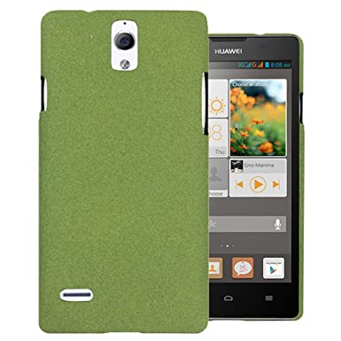 Heartly QuickSand Matte Finish Hybrid Flip Thin Hard Bumper Back Case Cover For Huawei Ascend G700   Nature Green available at Amazon for Rs.275