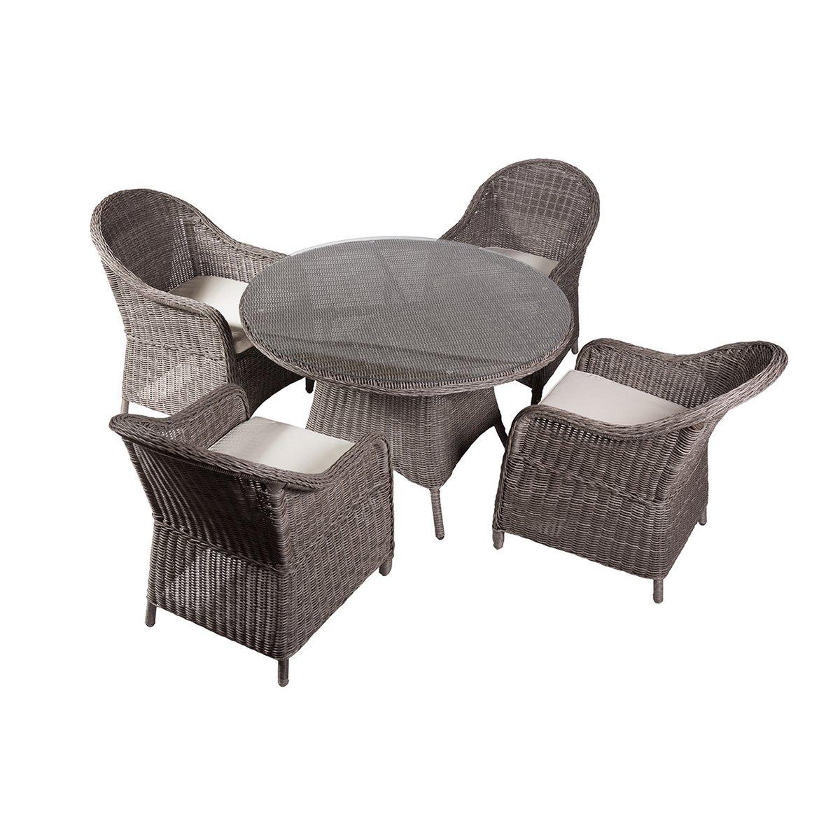 rattan gartengarnitur madison polyrattan gartenm bel terrassenm bel inkl sitzkissen grau. Black Bedroom Furniture Sets. Home Design Ideas