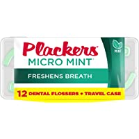 12-Count Plackers Micro Flosser with Travel Case (Mint)