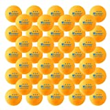 KEVENZ 50-Pack 3-Star 40mm Orange Table Tennis Balls,Advanced Ping Pong Ball