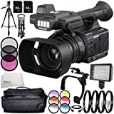Panasonic AG-AC30 14PC Accessory Bundle - Includes 3 Piece Filter Kit (UV + CPL + FLD) + 6PC Graduated Filter Kit + 64 GB SD Memory Card + Carrying Case + 160 LED Video Light + More