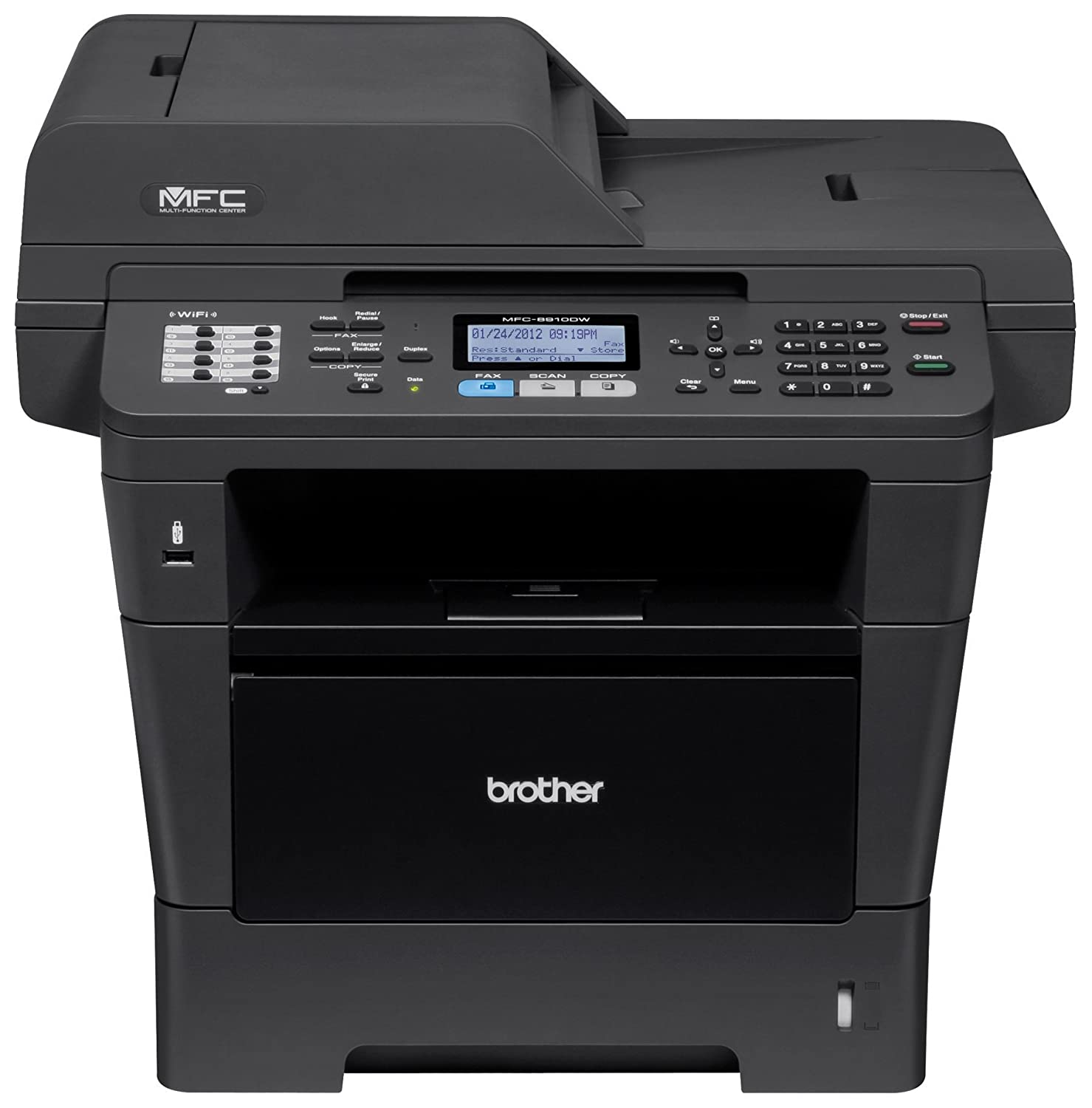 Brother Printer MFC8910DW Wireless Monochrome Printer with Scanner, Copier and Fax