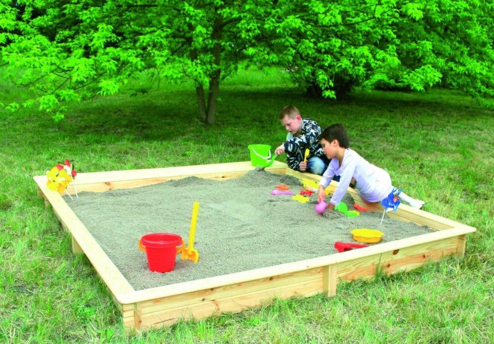 Holz-Sandkasten Modell Yanick 2,25 x 2,25 m Gartenspielzeug