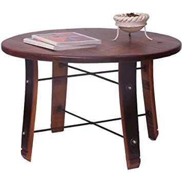 Round Stave Coffee Table (Pine Finish)