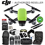DJI Spark Portable Mini Drone Quadcopter (Meadow Green) + DJI Spark Remote Controller EVERYTHING YOU NEED Starter Bundle