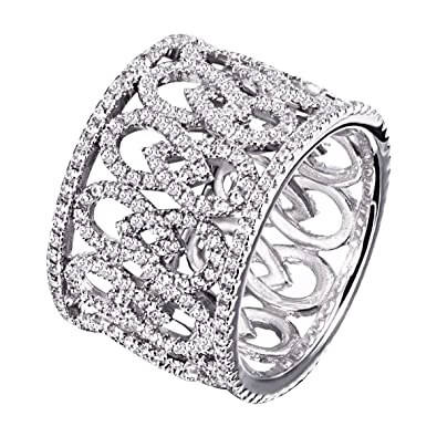 Goldmaid Ladies'Ring Glamour Oriental 925 Silver Partially Gold Plated Round Cubic Zirconia Pa R7110S White