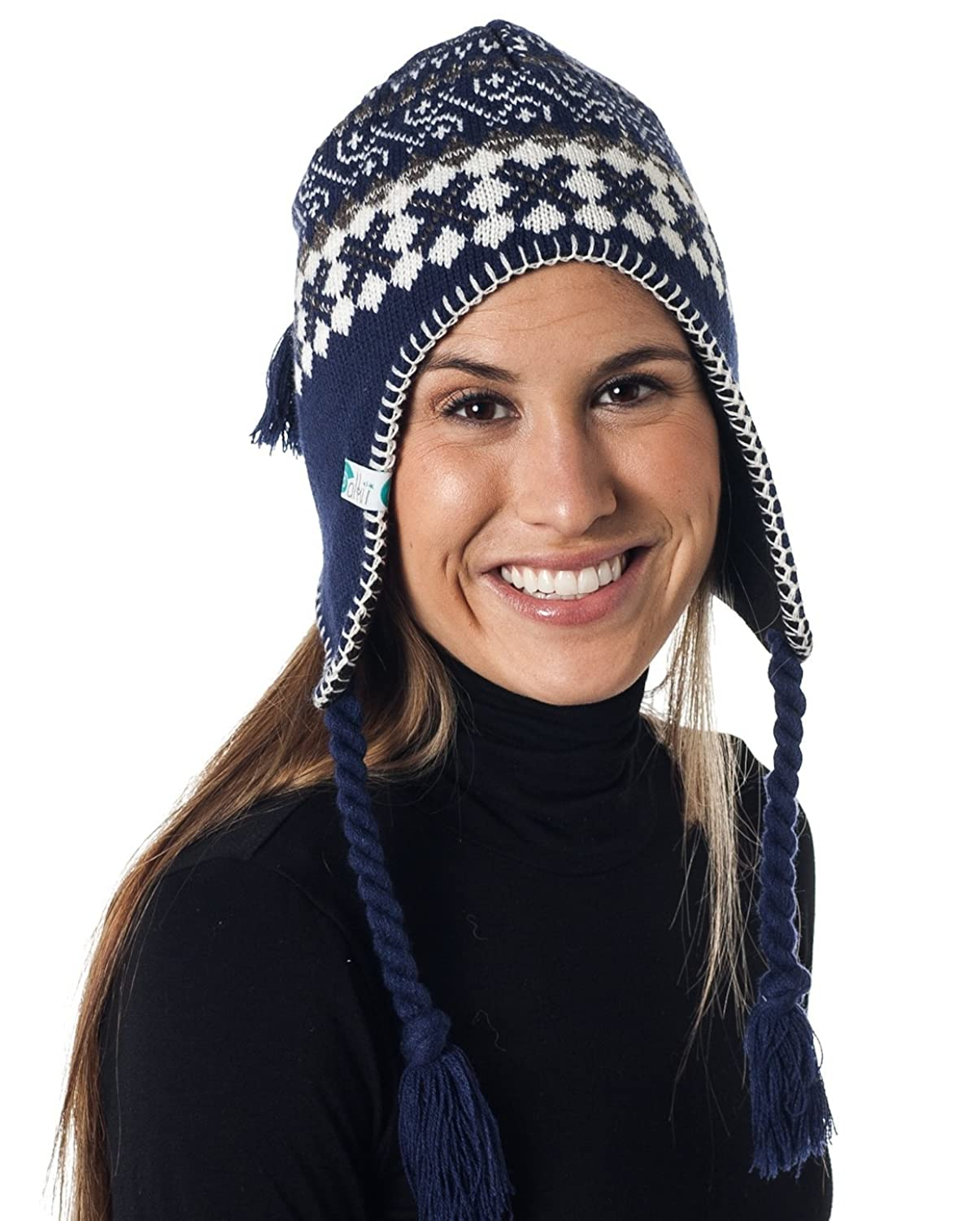 Alki i Braided Aviator womens warm beanie snowboarding winter snow hats  H607 - 5 colors 323767c86c9a