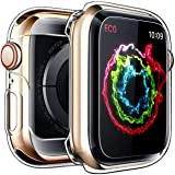 Penom Case for Apple Watch Screen Protector Series 4 40mm, Ultra Thin Clear iWatch 40mm Screen Protector with Full Protection TPU Cover (Color: Clear, Tamaño: Series 4 40mm)
