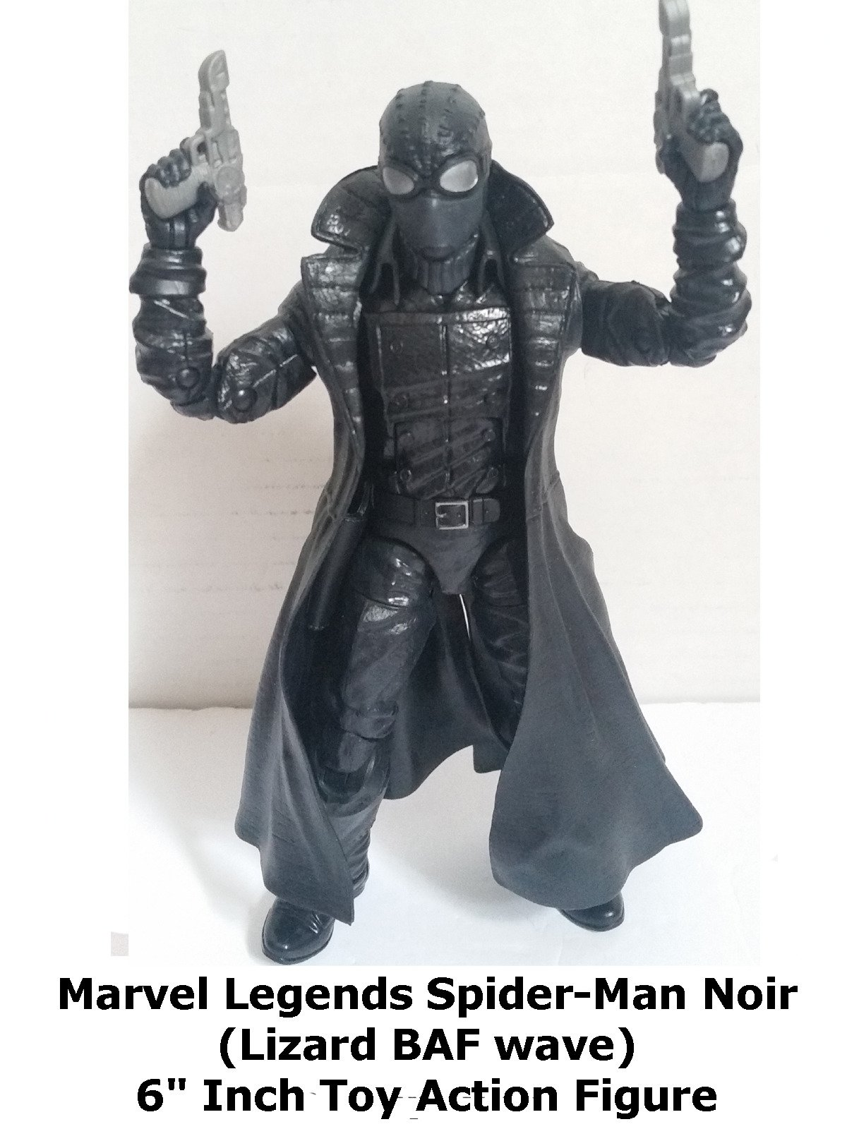 "Review: Marvel Legends Spider-Man Noir (Lizard BAF wave) 6"" Inch Toy Action Figure"