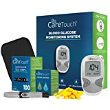 Care Touch Diabetes Blood Sugar Kit – Care Touch Blood Glucose Meter, 100 Blood Test Strips, 1 Lancing Device, 30 Gauge Lancets-100 Count, Control Solution and Carrying Case (Tamaño: Kit with 100 strips + Control Solution)