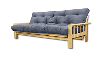 Convertible Vienna , futon gris, 207x100x30 cm