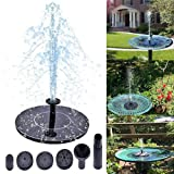 Solar Fountain,Solar Powered Bird Bath Fountain Pump Water Pump