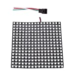 BTF-LIGHTING WS2812B RGB 5050SMD Individually Addressable Digital 16x16 256 Pixels LED Matrix Panel Flexible FPCB Dream Full Color Works with Arduino Respberry NEO etc Image Video Text Display (Color: 16x16, Tamaño: 16x16 Pixels)