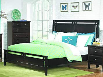 Verano California King Bed by Home Elegance in Espresso