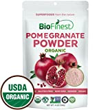 Biofinest Pomegranate Juice Powder - 100% Pure Freeze-Dried Antioxidants Superfood - USDA Organic Vegan Raw Non-GMO - Boost Digestion Skin Care - for Smoothie Beverage Blend (4 oz Resealable Bag)