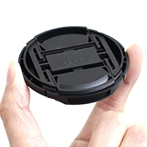 IMZ Lens Cap Bundle - 4 x 62MM Front Lens Filter Snap On Pinch Cap Protector Cover for DSLR SLR Camera Lens 62x4 (Tamaño: 62 mm)