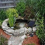 Accreate Solar-powered Oxygen Pump Oxygenator for Outdoor Fishing Fish Tank Aquarium for Home Garden Decoration