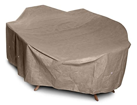 KoverRoos III 31362 Large High Back Dining Set Cover, 112 by 88 by 36-Inch, Taupe