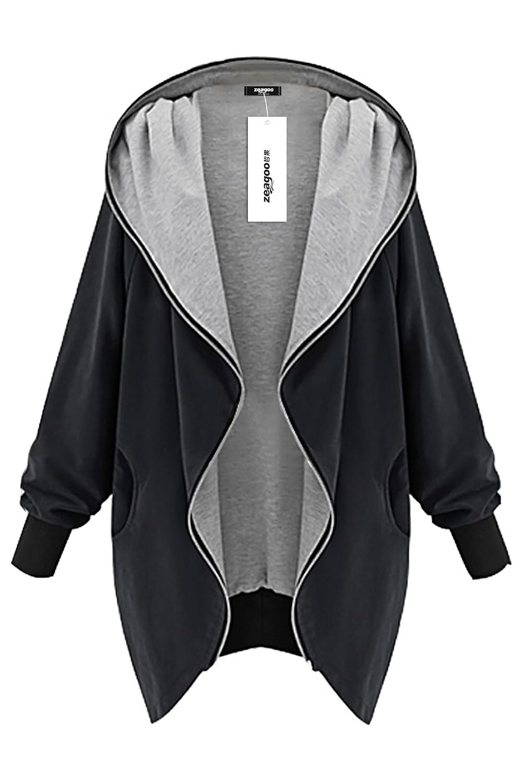 Zeagoo Damen Winter Jacke Übergangsjacke Mantel Kapuzenjacke online bestellen