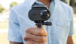 Rylo 360 Video Camera (iPhone Version) - Breakthrough stabilization, 4K Recording, Includes 16GB SD Card and Everyday Case (Color: Black)