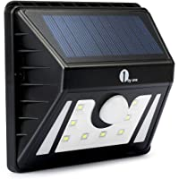 1byone Weatherproof Solar-Powered 8-LED Outdoor Security Light