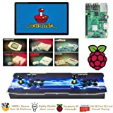 TAPDRA Raspberry Pi 3 Model B+ (B Plus) Arcade Cabinet Machine Video Game Console Complete Full Kit RetroPie Emulation Station ES with 18000+ Games(128GB EVO+) 2 GPIO Joystick (Color: Color 4, Tamaño: Double Joystick)
