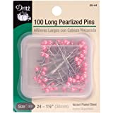 Dritz 68-44 Pearlized Pins, Long, Pink, 1-1/2-Inch (100-Count) (Color: Pink, Tamaño: 1-1/2-Inch)