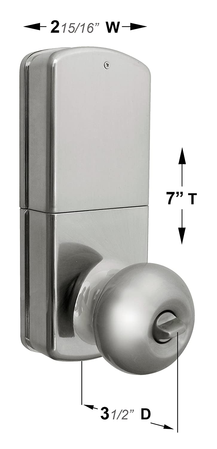 keyless door lock touchpad entry door knob lets you lock and unlock your door without keys it is a direct replacement for your standard knob without any