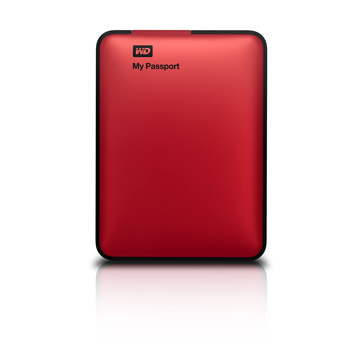WD My Passport 1TB Portable External Hard Drive Red