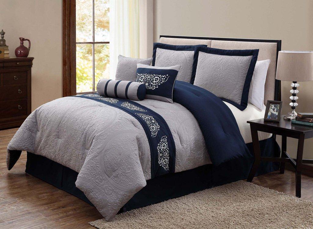 navy blue bedding. Black Bedroom Furniture Sets. Home Design Ideas