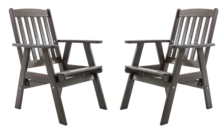 GARDENho.me 2er Set Massivholz verstellbarer Sessel VARBERG Hochlehner Taupegrau online kaufen