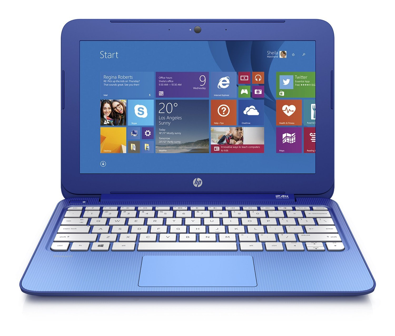HP Stream 11.6 inch Laptop, Intel N2840 2.16GHz Dual-Core, 2GB DDR3L, 32GB Solid State Drive, Windows 8.1, Blue (Certified Refurbished model # 11-D010WM