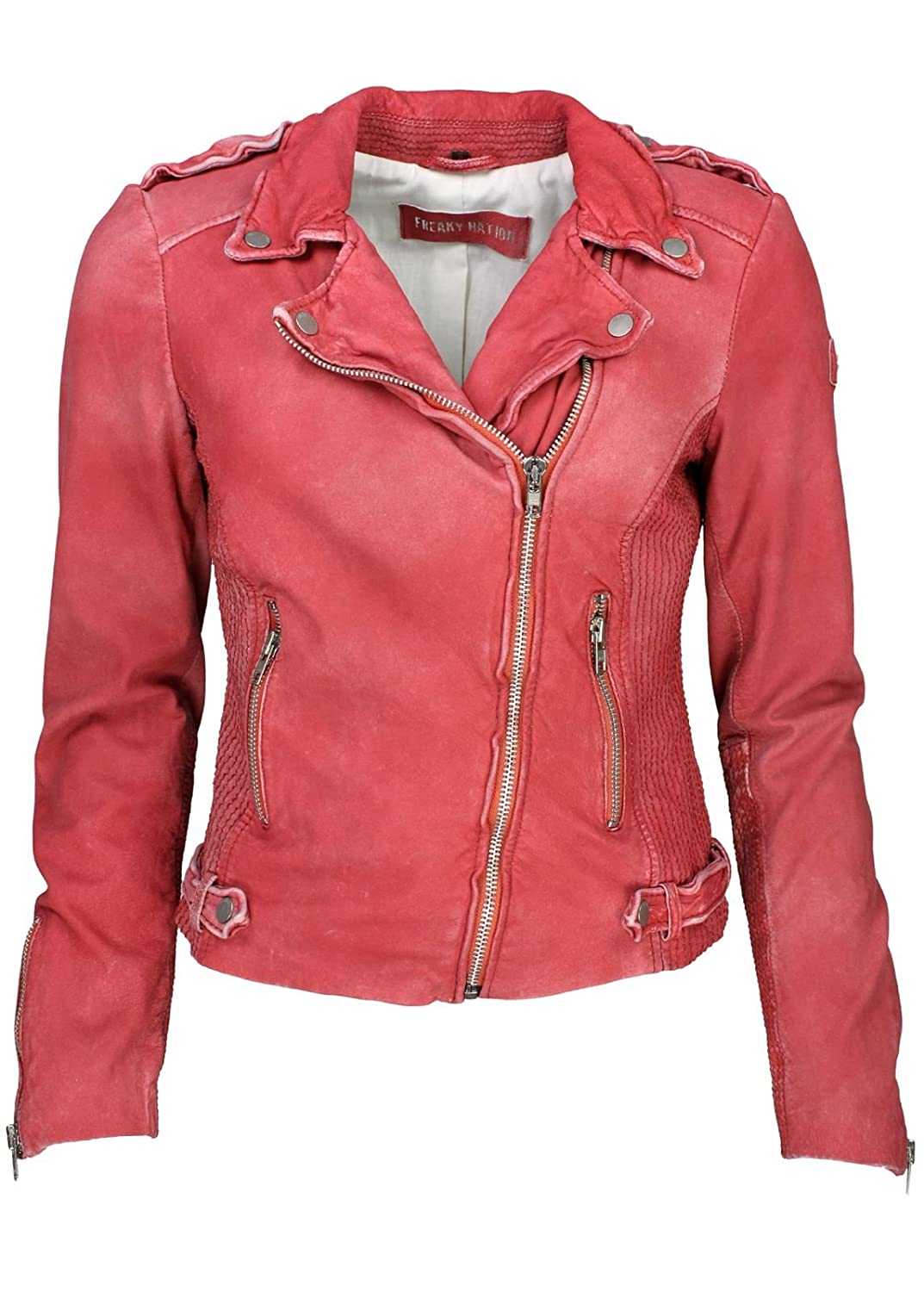 Freaky Nation Lederjacke Polly Red