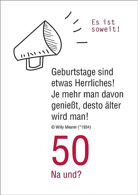 50 Na Und? Lustige Geburtstagskarte Zum 50. Geburtstag: Es Ist ...