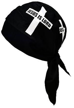 Buy Caps and Hats Christian Doo-RAG With Sweatband Motorcycle Skull Cap  Bikers Do-Bandana (Jesus ... 32f11a9baf6f