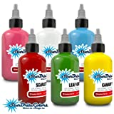 StarBrite Colors Sterilized Tattoo Ink - Top 6 Primary Color 1/2 oz (Color: multi, Tamaño: 0.5 oz)