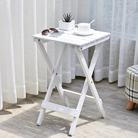 White Flower Frame Nordic Einfache Massivholz Blume Regal Wohnzimmer Balkon Klapptisch Couchtisch Outdoor Kleiner Tisch