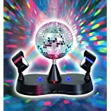 Kidsco Multi Color LED Strobe Light Mirror Disco Ball (Color: Multi, Tamaño: 360 Degree Rotating Ball)
