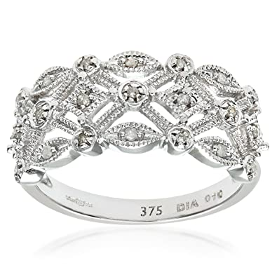 Naava 9ct White Gold Ladies Diamond Ring