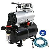 F2C TC-20T 1/5HP Pro Air Compressor Airbrush Kits W/6FT Hose and 3L Tank (Tamaño: compressor w/ 3L tank)