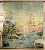 Thomas Kinkade Sea Of Tranquility Window Art Curtain