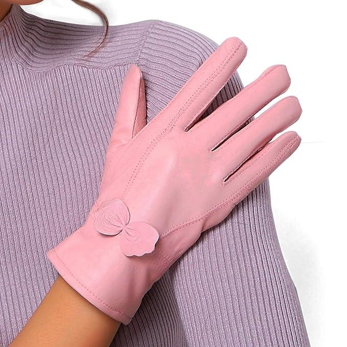 Vintage Style Gloves  Warm Cashmere Lining winter driving Flower Leather glove                               $19.57 AT vintagedancer.com