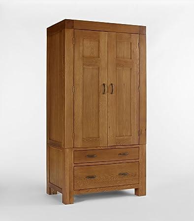 Santana Rustic Oak Single Wardrobe