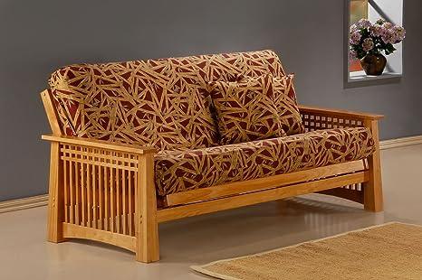 J&M Furniture 175657-Q-RSWD Prima Futon Frame