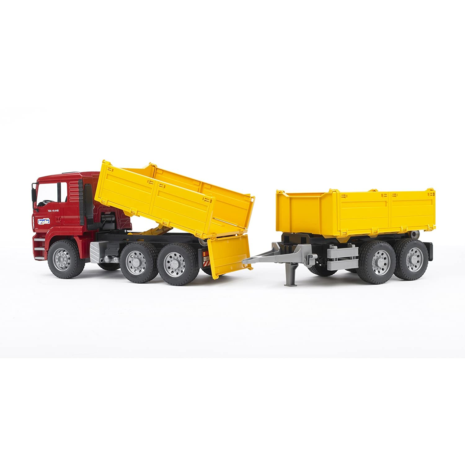 Bruder Construction Toys : Bruder toys man construction dump truck trailer tga