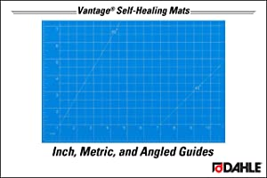Dahle 10691 CP Vantage Self-Healing 5-Layer Cutting Mat Perfect for Crafts and Sewing, 12 x 18, Blue 36 Case (Color: Blue, Tamaño: 12 x 18)
