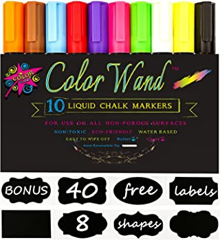 10-Pack Chalk Markers Pen w/Free 40 Labels