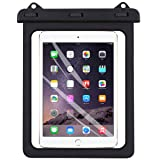 Universal iPad Waterproof Case, AICase Dry Bag Pouch for iPad Pro 10.5, New iPad 9.7 2017/2018, iPad Pro 9.7, iPad Air/Air 2, Tablets up to 11.5 Inch (Black) (Color: Black)