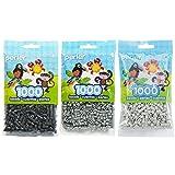 Perler Bead Bag, Grey Group (Grey, Dark Grey, Light Grey) (Color: Drak Grey, Grey, Light Grey, Tamaño: 5mm)